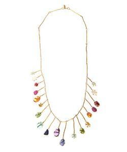 PIPPA SMALL | Multi-Stone Yellow-Gold Necklace