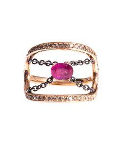 Nikos Koulis | Diamond Ruby Gold Ring