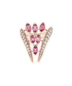 SHAUN LEANE | Diamond Tourmaline Rose-Gold Ring