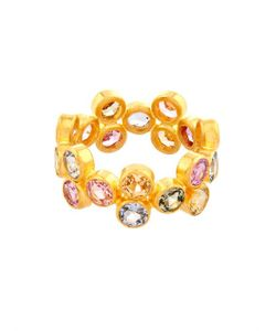 MARIE HELENE DE TAILLAC | Multicoloured Sapphire Yellow-Gold Ring