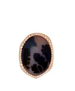 MONIQUE PÉAN | Diamond Agate Rose-Gold Ring