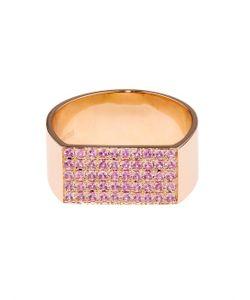 DINA KAMAL DK01 | Sapphire Yellow-Gold Id Ring