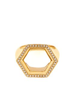 Noor Fares | Hex Seal Gold And Diamond Ring