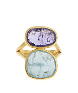 PIPPA SMALL | Amethyst Aquamarine Yellow-Gold Ring