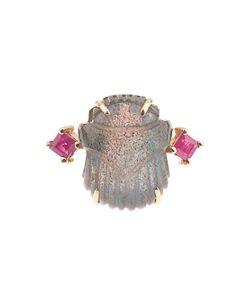 SILVIA FURMANOVICH | Ruby Labradorite Yellow-Gold Ring