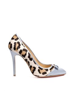 Charlotte Olympia | Grace Satin And Calf-Hair Pumps