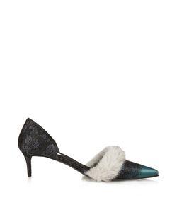 Balenciaga | Mink-Fur Trimmed Jacquard Pumps