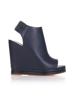Balenciaga | Open-Toe Leather Wedges