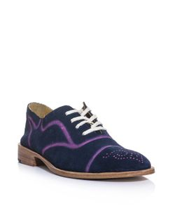 ESQUIVEL | Spray-Paint Suede Brogue Shoes