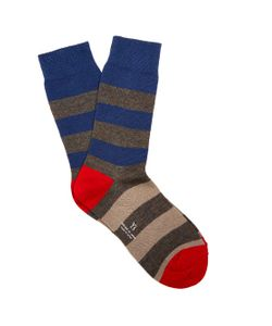 Y'S BY YOHJI YAMAMOTO | Striped Cotton-Blend Socks