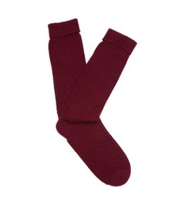 PEPPER & MAYNE | Ribbed-Knit Cashmere Socks
