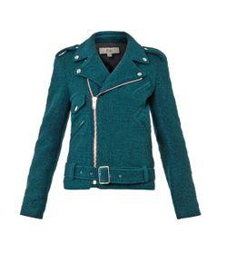 Rika | Irena Boiled-Wool Biker Jacket