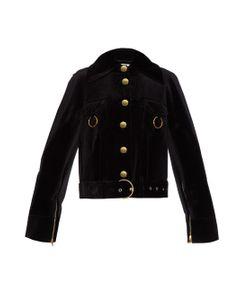 THOMAS TAIT | Oversized Velvet Biker Jacket
