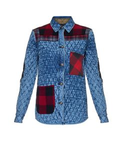 TORTOISE JEANS | Quilted Plaid-Patchwork Cotton-Jacket