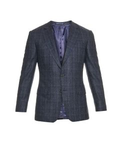 GIEVES & HAWKES | Shadow-Check Wool And Cashmere-Blend Blazer