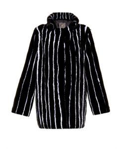 LILLY E VIOLETTA | Pinstripe Mink-Fur Coat