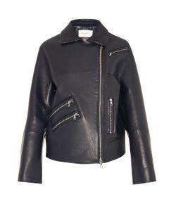 THOMAS TAIT | Oversized Leather Biker Jacket