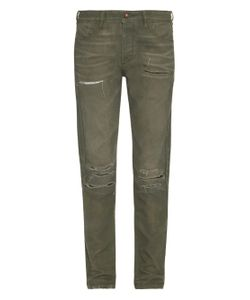 TORTOISE JEANS | Sulcata Distressed Skinny-Leg Jeans