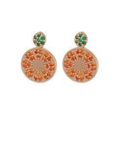 Aamaya By Priyanka | Topaz Rose-Gold Plated Earrings