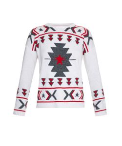 Banjo & Matilda | Crew-Neck Intarsia-Knit Sweater