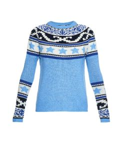 Banjo & Matilda | Star Fair Isle Intarsia-Knit Sweater