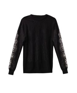 Freda | Lace And Cashmere Sweater