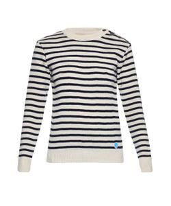 ORCIVAL | Crew-Neck Striped Wool Sweater