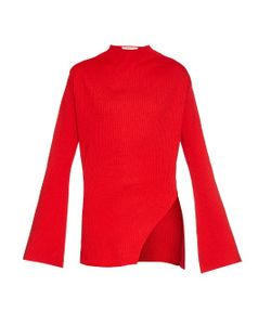 THOMAS TAIT | Fla-Sleeve Ribbed-Knit Sweater