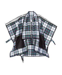 DANIELLE ROMERIL | Odoshi Shelter Tartan-Check Wool Poncho
