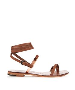 ALVARO | Anna Wraparound Leather Sandals