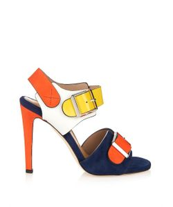 Chrissie Morris   Ida Suede And Leather Sandals
