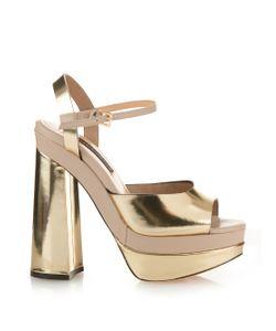 Chrissie Morris | Farrah Leather Platform-Heeled Sandals
