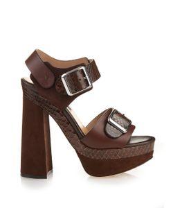 Chrissie Morris | Ida Python Platform-Heel Sandals