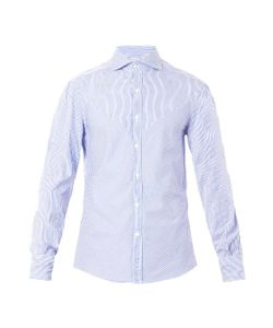 Michael Bastian | Chevron-Stripe Cotton Shirt