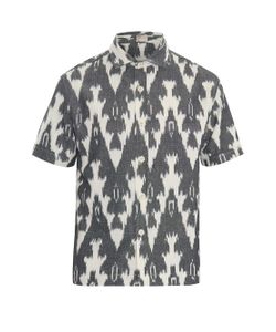 THADDEUS O'NEIL | Ikat-Pattern Short-Sleeved Shirt