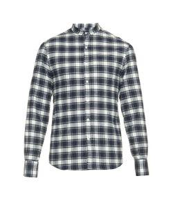 Michael Bastian   Checked Cotton-Flannel Shirt