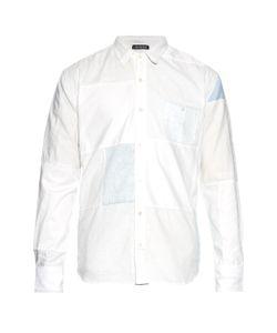 LONGJOURNEY   Long-Sleeved Patchwork Cotton Shirt