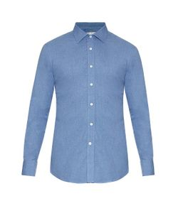 GIEVES & HAWKES | Long-Sleeved Cotton-Flannel Shirt