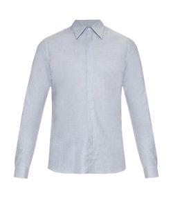 MATHIEU JEROME | Hidden Button-Down Collar Cotton Shirt