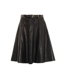 Rika | Leather A-Line Skirt