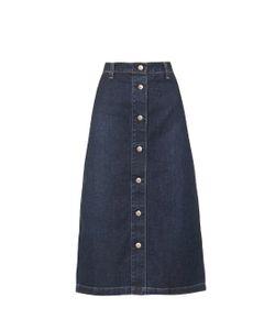 Alexa Chung for AG | The Cool Denim A-Line Midi Skirt