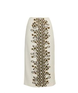 Wes Gordon | Embellished Crepe Pencil Skirt
