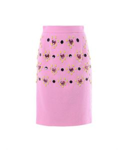 Honor | Heart Jewel-Embellished Pencil Skirt