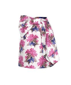 Caterina Gatta | Bow-Front Floral-Print Skirt