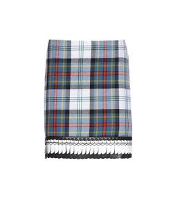 DANIELLE ROMERIL | Alicia Tartan-Check Wool Mini Skirt