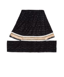 DANIELLE ROMERIL | Fallaway Flocked-Lace Skirt