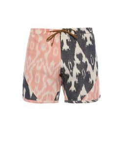 THADDEUS O'NEIL | Ikat-Print Cotton Board Shorts