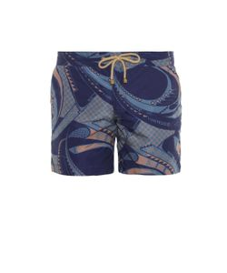 THORSUN | Wave-Print Swim Shorts