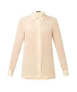 Freda | Point-Collar Silk Shirt