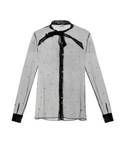 Saint Laurent | Polka-Dot Tulle Blouse